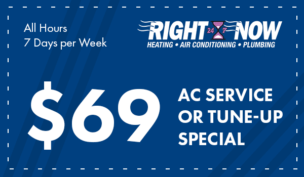 $69 AC Service or tune-up special, all hours, 7 days per week coupon