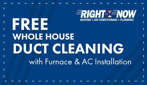 FREE whole house duct cleaning with Furnace or AC Installation