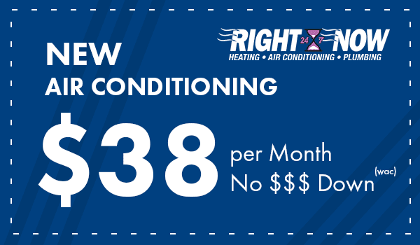 New Air Conditioning $38 per month, no money down with approved credit